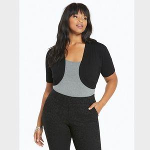 Torrid Black Lace Back Shrug Size 3X